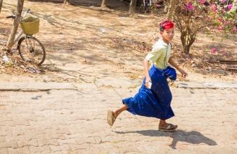 Local Boy Wearing Traditional Sarong